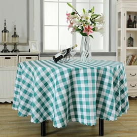 Cotton Plaid Country Style Rectangle Fastness Table Cloth