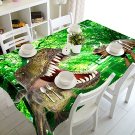 Ancient Dinosaurs and Forest Scenery Pattern 3D Tablecloth