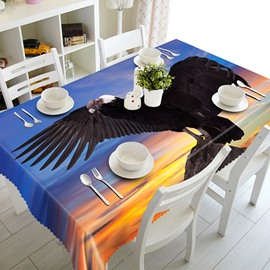 Magnificent Black Eagle Pattern 3D Tablecloth