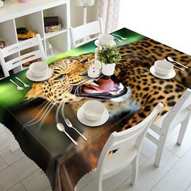 Vivid Polyester Leopard Pattern 3D Tablecloth