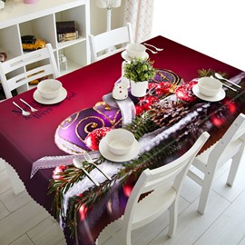 Red Christmas Decoration Pattern 3D Tablecloth