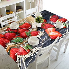Unique Design Strawberry and Basket Pattern 3D Tablecloth
