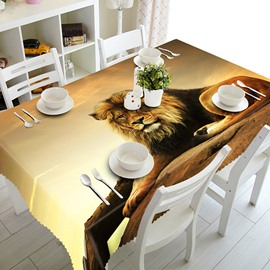 Simple Style Polyester Lion Pattern 3D Tablecloth