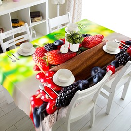 Delicious Strawberry and Blueberry Pattern 3D Tablecloth