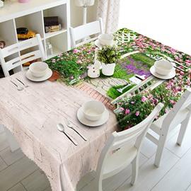 Beautiful Garden Scenery Pattern 3D Tablecloth