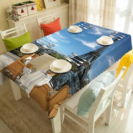 Modern Design Eiffel Tower Pattern 3D Tablecloth