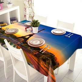 Favorite Sunset Eiffel Tower Pattern 3D Tablecloth