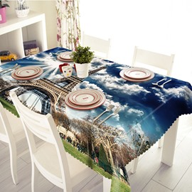 Wonderful Polyester Eiffel Tower Pattern 3D Tablecloth