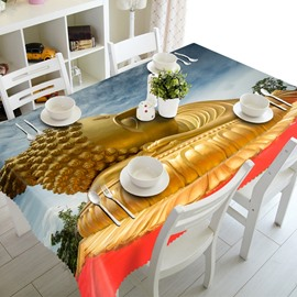 Golden Buddha Prints Design Dining Room Decoration 3D Tablecloth