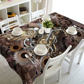 Vintage Style Creative Gears Pattern Design Home Decoration 3D Tablecloth