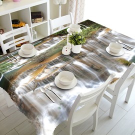 Vivid Waterfalls Pattern Design Polyester Fibre Washable 3D Tablecloth