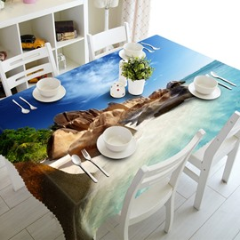 Modern Design Stones by the Sea Prints Dining Room Decoration 3D Tablecloth