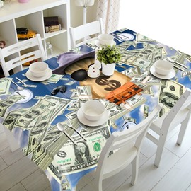 Unique American Style Dollar Prints Design Home Decorative 3D Tablecloth
