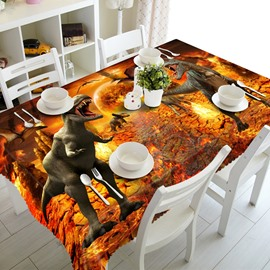 Vivid Creative Design Two Dinosaur Pattern Design Home Decorative 3D Tablecloth