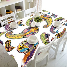 3D Abstract Tadpoles Printed Thick Polyester Oil-Proof Home and Outdoors Table Cloth Cover