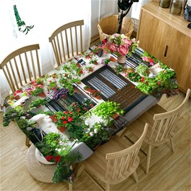 Wonderful Flowers House Romantic and Warm Style 3D Table Cover