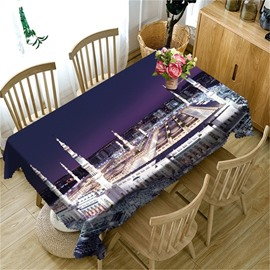 Modern and Tall Buildings 3D Oil-Proof and Durable Home and Party Table Cover