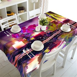 3D Romantic Candlelight Dinner Printed Oil-Proof Home and Hotel Dinning Table Cloth