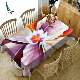 3D Gorgeous Flower Printed Dreamy and Sweet Style Polyester Table Cloth