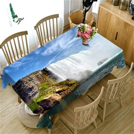 Magnificent Waterfalls Printing Natural Scenery Beautiful Dining Table Cover