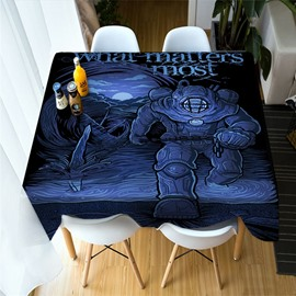 3D Skull and Mythical Monsters Printing Polyester Table Cover Cloth