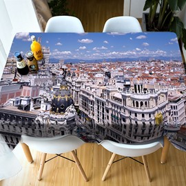 Polyester Waterproof European Style Home Use 3D Tablecloth