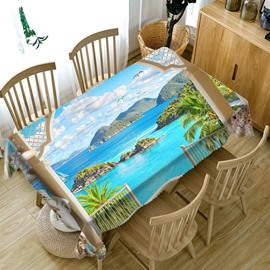European Style Polyester Printed Waterproof 3D Tablecloth