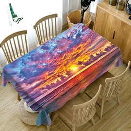 Printed Rectangle Waterproof European Style 3D Tablecloth