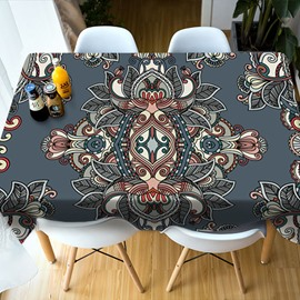 Realistic Design Vibrant Color Polyester 3D Tablecloth