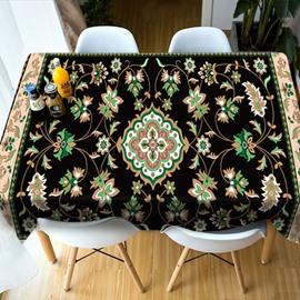 Oilproof Parties&Picnics Multicolor Rectangle 3D Tablecloth