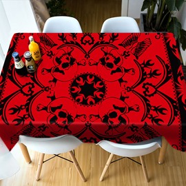 Home Decor Vibrant Color Rectangle Waterproof 3D Tablecloth