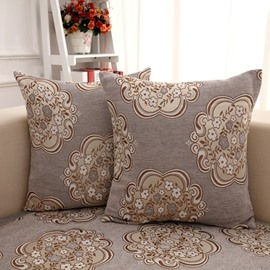 European Style Gray Flower Pattern Home Decorative Sofa Throw Pillow