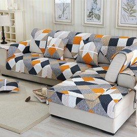 Modern Fashion Geometry Print Four Seasons Washable 1 Piece Decorative Sofa Cover