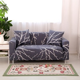 Stunning European Style Tree Branch Pattern Slip Resistant Sofa Cover