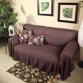 Popular Simple Style Pure Color Pattern Slip Resistant Washable Sofa Cover