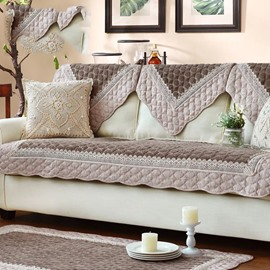 Linen Plain Pattern Simple Style Sofa Covers