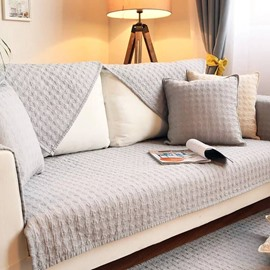 Pure Color Plain Simple Style Cotton Sofa Covers