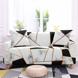 1/2/3/4 Seater Stretch Sofa Cover Geometric Marble Printed Couch Covers Slipcovers Elastic Universal Furniture Protector