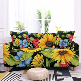 1/2/3/4 Seater Stretch Sunflower Floral Print Sofa Covers Slipcover Settee Couch Homr Furniture Protector