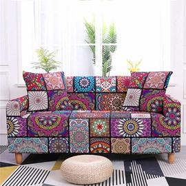 1/2/3/4 Seater Stretch Boho Mandala Sofa Covers Slipcover Settee Boho Couch Protector