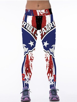 Captain America Style Blue Women's 3D Leggings