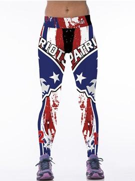 Captain America Style Blue Women's 3D Leggings