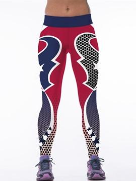 Casual Style Symmetry Pattern Blue 3D Leggings