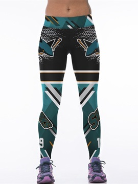 Casual Style Shark Printed Women's 3D Leggings
