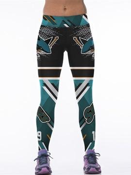 Casual Style Shark Printed Women's 3D Leggings