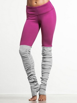 Skinny Model Color Matching Style Elastics Closure Type Full Length Sport Pants