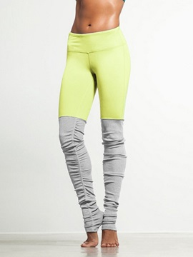 Skinny Model Color Matching Style Moderate Elasticity Polyester Material Sport Pants