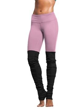 Nylon Material Skinny Model Full Length Moderate Elasticity Sport Pants