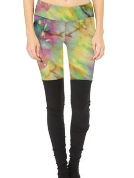 Moderate Elasticity Full Length Polyester Material Skinny Model Sport Pants