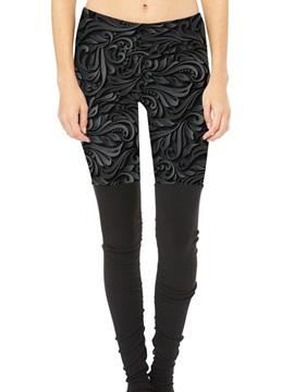 Full Length Moderate Elasticity Skinny Model Polyester Material Sport Pants